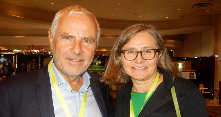 TV France International: Herve Michel, president, and Marie-Laure Hebrard, president, Film Picture