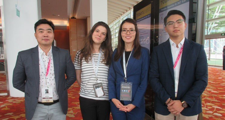 Zolbat Jantsan, general manager, Mongolia Digital Broadcasting (MNBC); Larisa Magkaeva, official representative of ATF for Russia and CIS, Expocontent (Russia); Temulin Batjargal, foreign relations manager, and Erhembat Buyantogtokh, marketing manager, MNBC