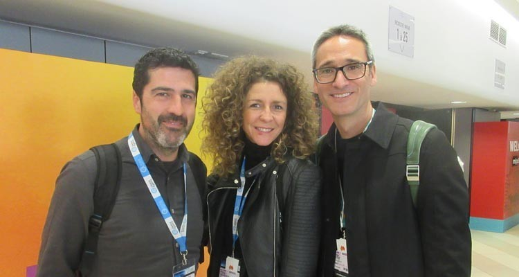 Spanish buyers at MIPFormats: Antonio Lopez, content manager at Plano a Plano, with Flora Sánchez Castañon, director, and Jorge Pérez Vega, executive producer, both from Atresmedia