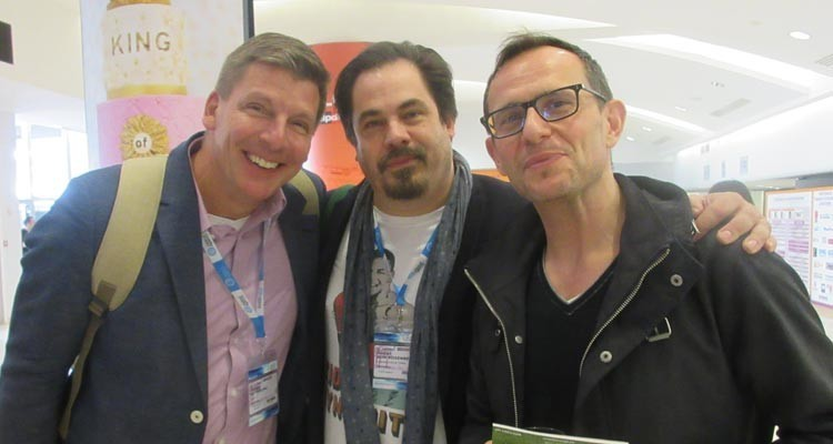 German pubcasters searching for new formats in Cannes: Philipp Bitterling, program manager, at WDR, Daniel von Rosenverg, head of development, Fandango, and Panagiotis Trakaliaridis, head of strategic program development