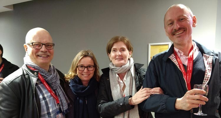 Scandinavian buyers at MIPDoc: Arto Hyvonen, acquisition executive, Yle (Finland), Bettina Offermann, Looks Film Productionen (Germany), Nina Tuominen, international programme acquisitions, Yle, and Kim Christiansen, acquisition, documentaries and co-productions, DR (Denmark)