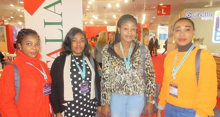 Digital buyers from Nigeria: Pretty Fikamo Akinyele, legal executive, Elege Nineka, acquisitions, Francisca Ovie, TV executive, and Odimba Victoria, corporate affairs, all from Solution Media and Infotech