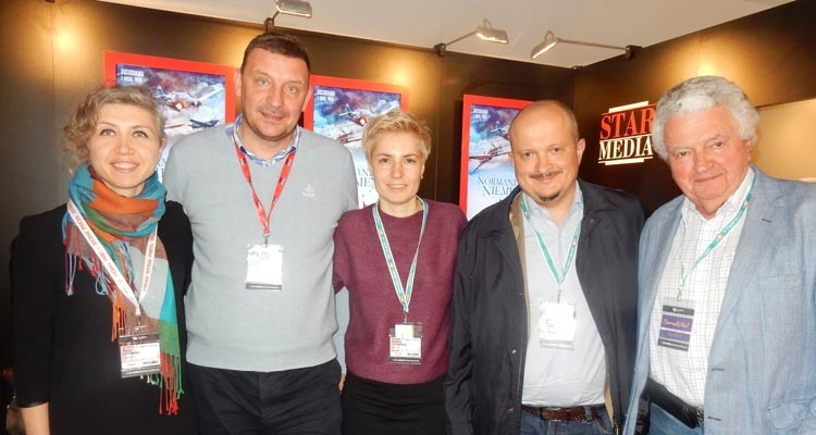 Russia and Ukraine: Maria Istomina from the broadcaster RBC (Russia), Vlad Ryashin, from Star Media (Russia) Nataliya Turanska, senior format Manager, Novy (Ukraine), Peter Shepin, commercial director, Channel 1, and Bill Peck, Star Media