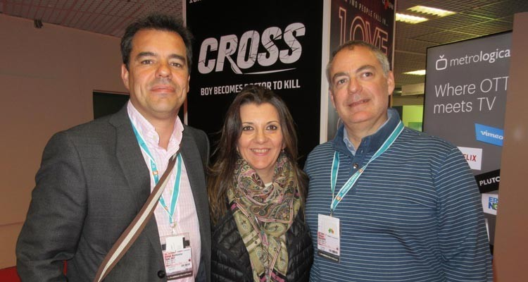 Atresmedia, Spain: José Antonio Salso, head of sales and acquisitions, Sonia Vesperinas Ruiz, acquisition executive, and Javier Iriarte, programming deputy director