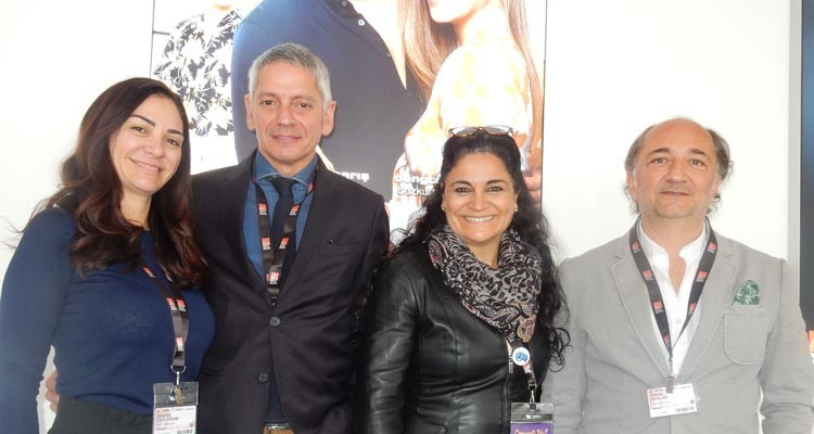 Cecilia Gómez de la Torre, general manager at Tondero, with Beatriz Cea, Can Okan (CEO) and Ahmet Ziyalar, COO, all from Inter Medya Turkey. Tondero will distribute theatrically the Inter Medya Film 'Kerem' through 10 countries of Latin America
