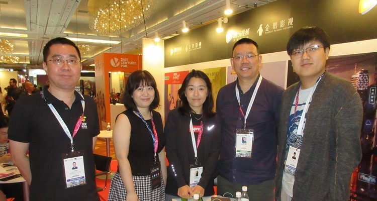 Tencent China, buying and selling: Lexian Zhu, chief, documentary, and Frank Fu, senior strategic partner manager, Tencent (the last two in the picture) with Li Kang Documentary Laboratory, Stephanie Sun and Yuki Pon