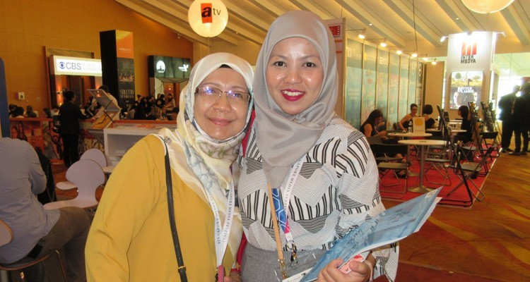 Radio and Television of Brunei acquisition and programming executives: Hajah Hasiah Ali and Nor Hasimah Haji