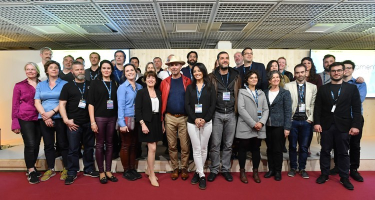 Pictures of the week: Laurine Garaude, director of TV division at Reed Midem, with the participants of 'InDevelopment', one of the sections that performed better this MIPTV. To join people for projects in an early stage.