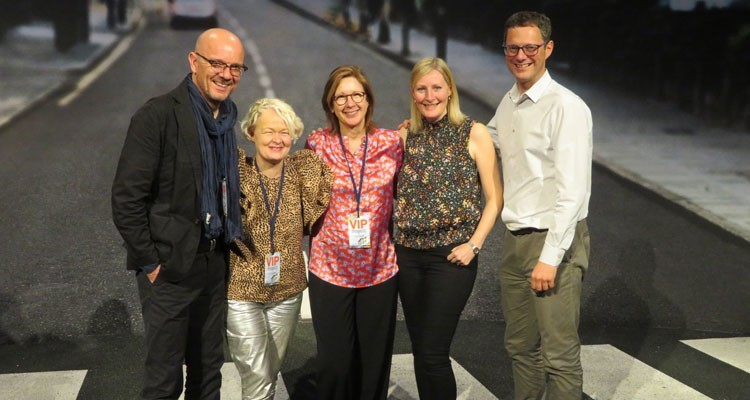 BBC's (UK) programming heads at NBC Universal: Patrick Holland, Channel Editor, BBC Two, Fiona Campbell, controller BBC Three, Sue Deeks, head of program acquisitions, films and series, Alison Mabe, head of planning and scheduling, BBC Two, and BBC Four, and Dan McGolpin, Controller, Programming and Daytime, BBC One