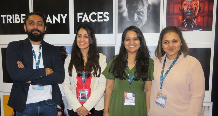 Akul Tripathi, COO, with his team at MIPTV: Natanshi Lodha, marketing manager, Tasneem Lokhandwala, senior producer-content, and Adita Jain, heaf of acquisitions and syndication