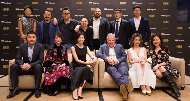 HBO Asia celebrates its 25th Anniversary announcing six new original series to be produced accros the region: Jonathan Spink, CEO, HBO Asia, and Kazufumi Nagasawa, chief content officer, Hulu Japan, with talents of the series