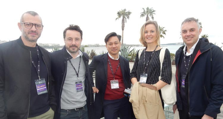 M6, France: Matthieu Bayle, head of commissioner of unscripted content, Pierre-Guillaume Ledan, programming director, W9; Tam Vo Duy, director of development, Bérengère Terouanne, responsable of artistic selections, and Alexandre Moussard, acquisitions director