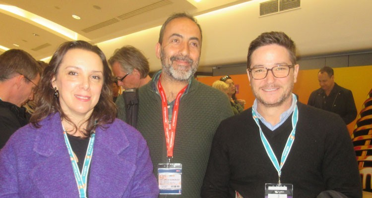Buyers from Telefónica Digital (Spain): Sonia Salas Gutierrez, chief series, Iñigo Trojaola Gonzalez, Premiun Chief, and Julian Rodriguez Montero, Acquisitions Subdirector